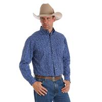 Wrangler Men's Blue Paisley George Strait Shirt