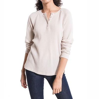 Z Supply Women's Waffle Thermal Henley Shirt
