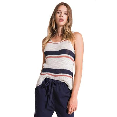 Rag Poets Women's Tulum Striped Knit Tank Top