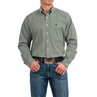 Cinch Men's Olive and Cream Diamond Print Shirt