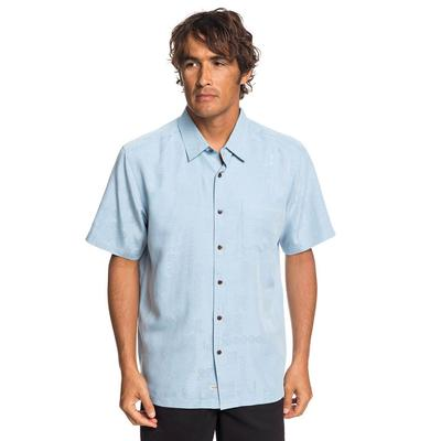 Quiksilver Men's Waterman Kelpies Bay Shirt CERULEAN