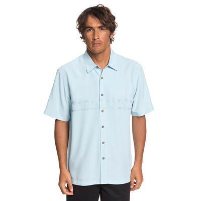 Quiksilver Men's Waterman Tahiti Palms Shirt CRYSTALBLUE