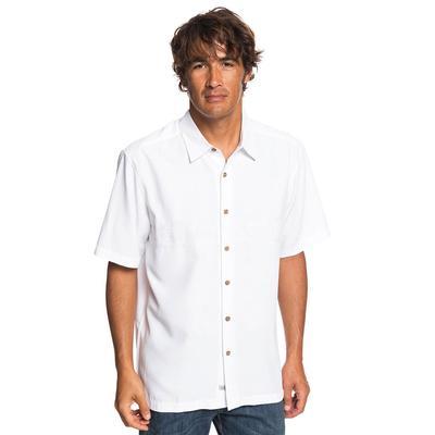 Quiksilver Men's Waterman Tahiti Palms Shirt WHITE