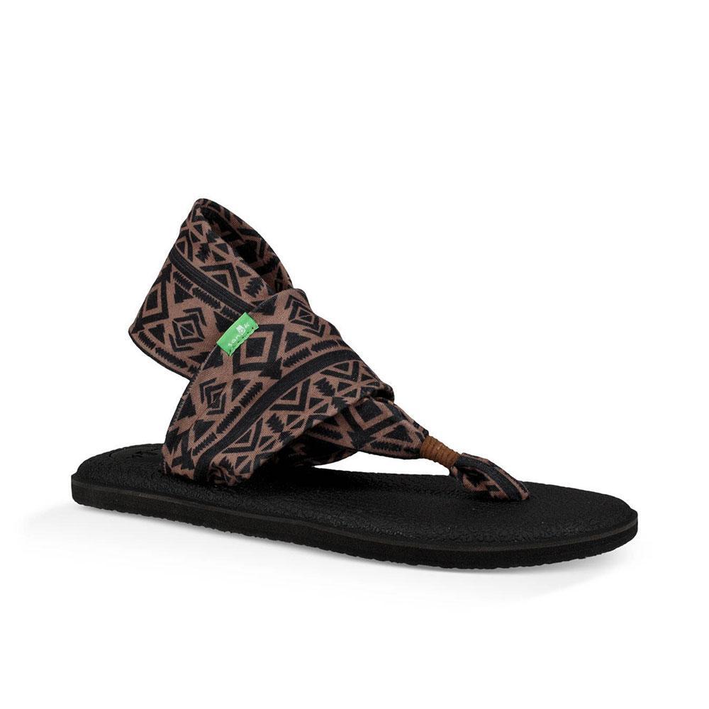 d02e64c7621b Sanuk Women s Skyland Brown And Black Yoga Sling Sandal Item   1100698