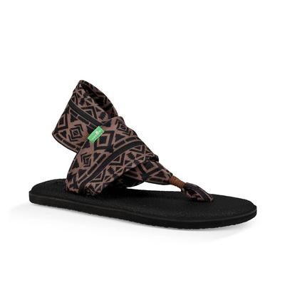 Sanuk Women's Skyland Brown And Black Yoga Sling Sandal