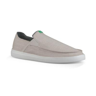 Sanuk Men's Pick Pocket Slip-On Grey Linen Shoe