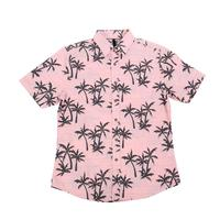Smash Men's Short Sleeve Pink Palms Button Shirt