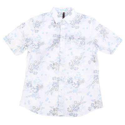 Smash Men's Short Sleeve White Floral Button Shirt