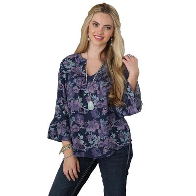 Cruel Girl Women's Floral Peasant Top