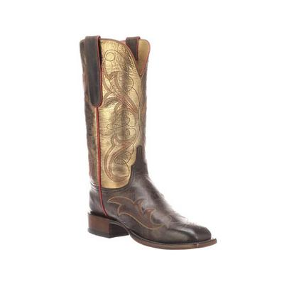 Lucchese Women's Chocolate and Bronze Taryn Boot