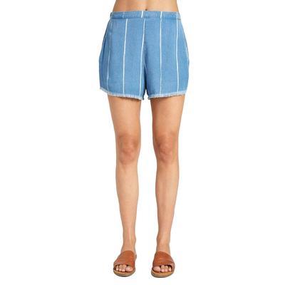 Bella Dahl Women's High Waisted Frayed Hem Shorts