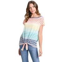 First Love Women's Cold Shoulder Tie-Front Top