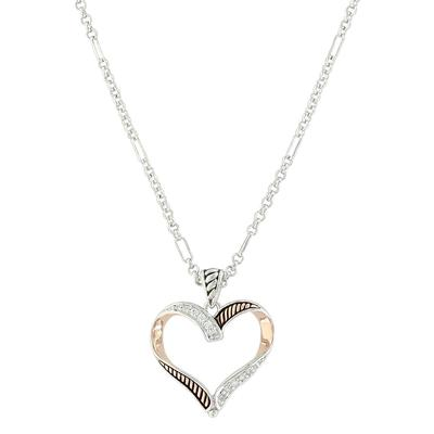Montana Silversmith's Facets of Love Rose Gold Heart Necklace