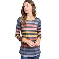 First Love Women's Ombre Striped Top
