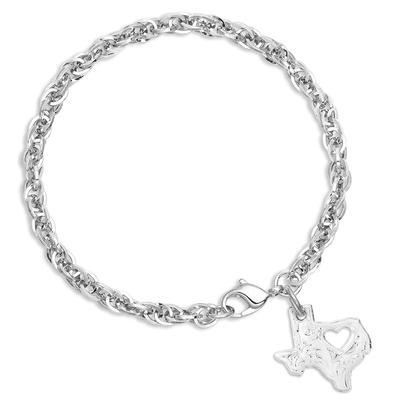 Montana Silversmith's I Heart Texas State Charm Bracelet