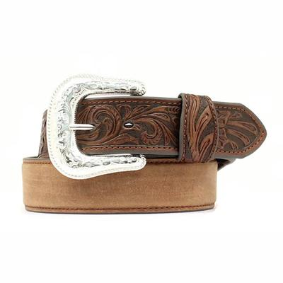 Nocona Men's Tooled Leather Belt