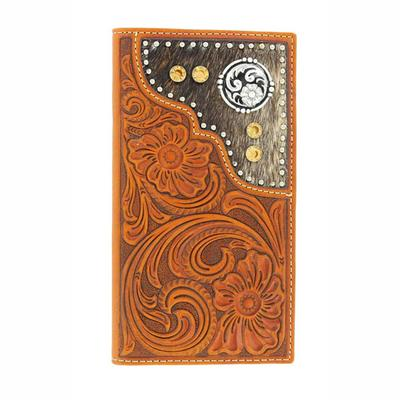 Nocona Men's M&F Western Hair On Leather Rodeo Wallet