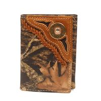 Nocona Men's M&F Western Camo Mossy Oak Breakup Tri-fold Wallet