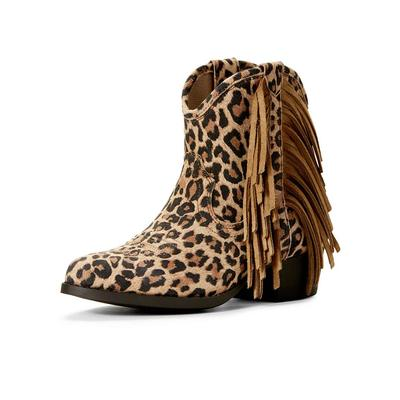 Ariat Girl's Duchess Leopard Fringe Ankle Boots
