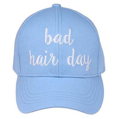 Women's Light Blue Bad Hair Day Cap