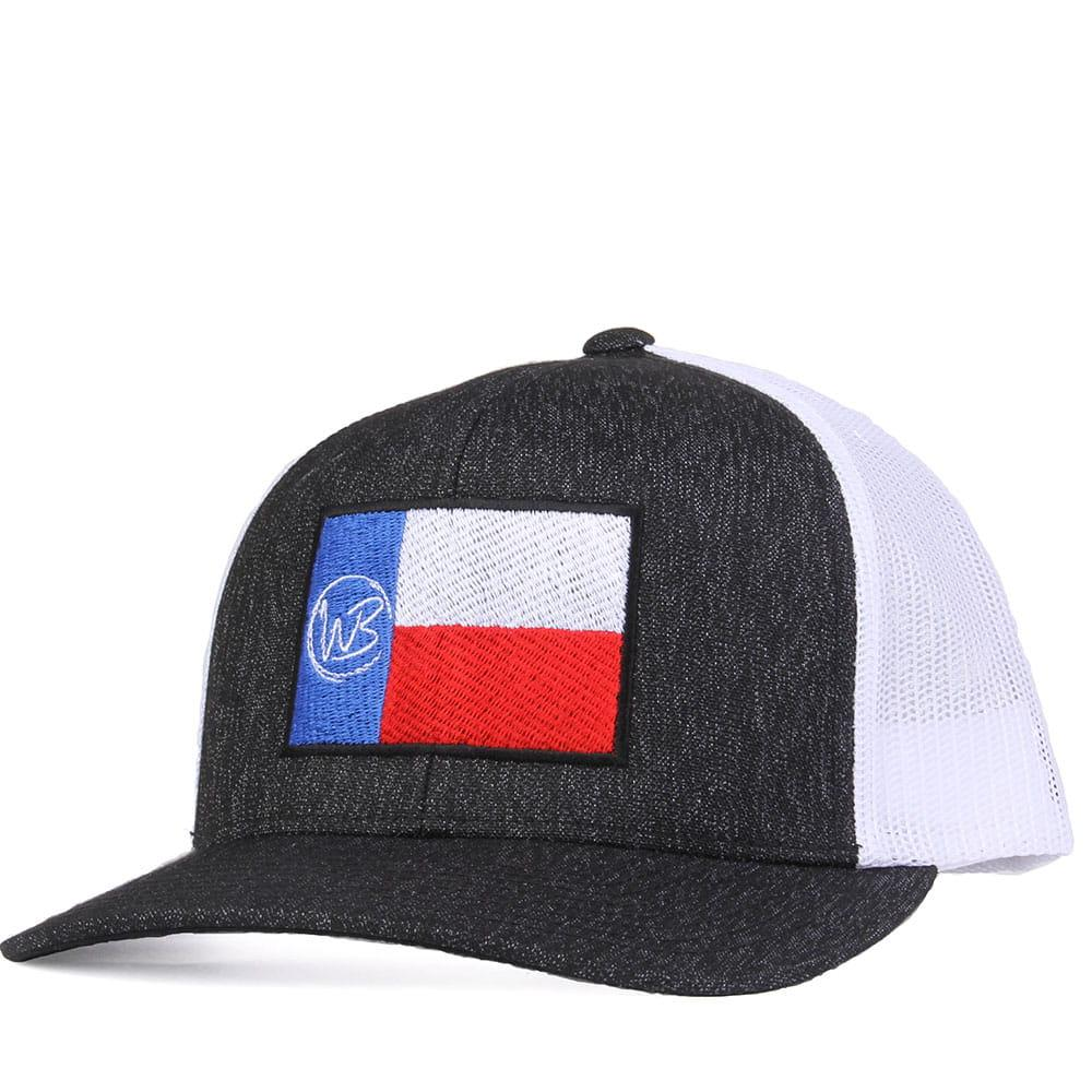 a5c7d3bc2a5 ... new style whiskey bents heathered black and white wb texas flag cap  item wbtx0110c 79411 afb10
