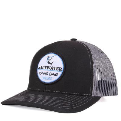 Whiskey Bent's Black and Grey Saltwater Cap