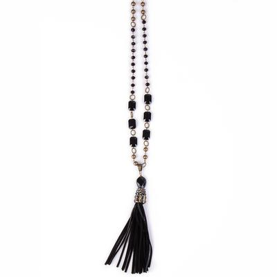 Pink Panache's Black and Bronze Crystal Necklace