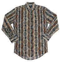 Wrangler Men's Beige and Blue Checotah Snap Shirt