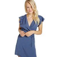 Bella Dahl Women's Ruffle Sleeve Wrap Dress
