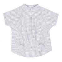 Jade Women's Check High-Low Blouse