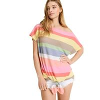 First Love Women's Boat Neck Striped Top