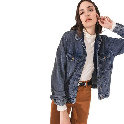 Z Supply Women's The Knit Denim Jacket