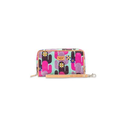 Consuela's Blue Buffy Wristlet Wallet
