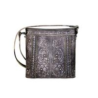Montana West's Coffee Embossed Floral Crossbody