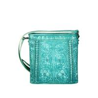 Montana West's Turquoise Embossed Floral Crossbody