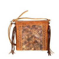 Montana West's Brown Embossed Vintage Floral Tooled Crossbody