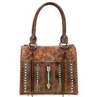 Montana West's Coffee Aztec Satchel Handbag