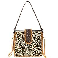 Montana West's Trinity Ranch Hair-On Leather Safari Tote