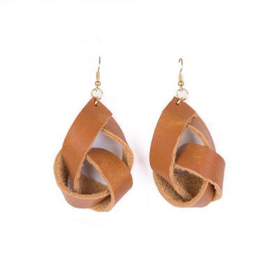 Plume Honey Knot Earrings