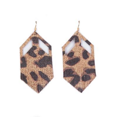 Plume Leopard Boho Earrings