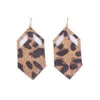 Plume Leopard Boho Earrings