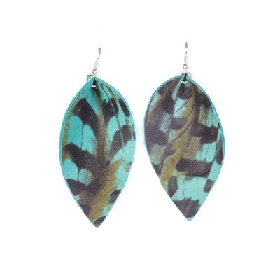 Plume Turquoise Pheasant Earring