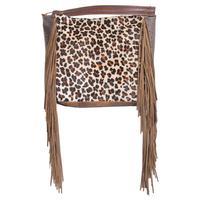 Rosie Leopard Hair-On Fringe Purse