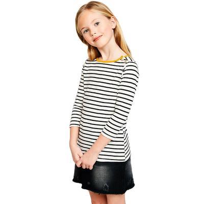 Hayden Girl's Side Button Striped Top