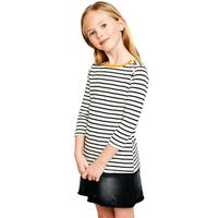 Hayden Girl's Side Button Striped Top