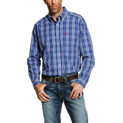 Ariat Men's Royal Sapphire Wrinkle Free Kadinger Shirt