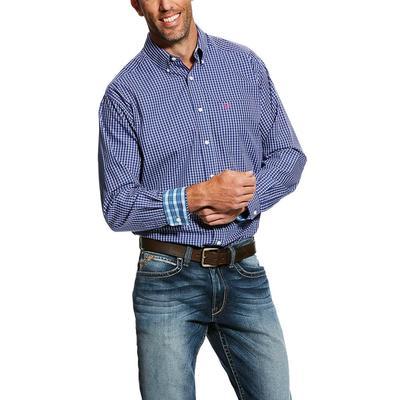Ariat Men's Royal Sapphire Wrinkle Free Kaiman Shirt