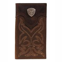 Ariat Men's Leather Embroidered Rodeo Wallet