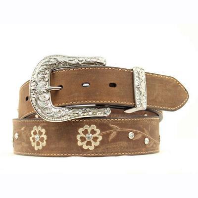 Ariat Women's M & F Western Floral Leather Belt