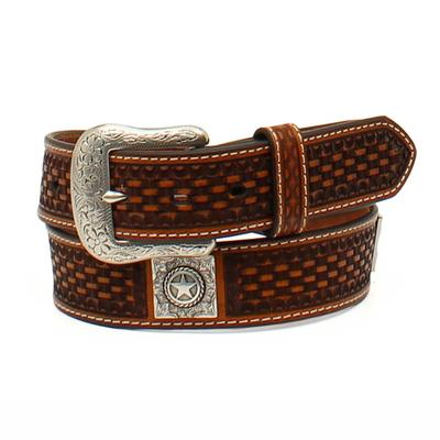 Ariat Men's M&F Western Basketweave Leather Belt